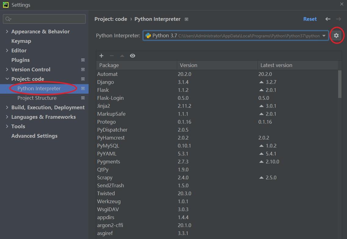 PyCharm设置解释器-Interpreter