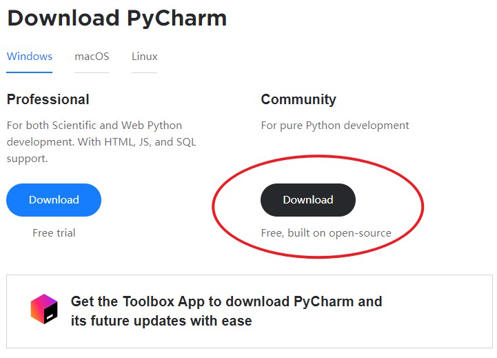 pyCharm下载地址